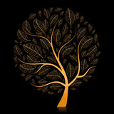 Golden tree beautiful for your design Royalty Free Stock Photos
