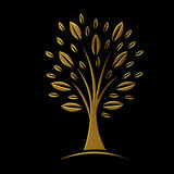 Golden tree concept of VIP Royalty Free Stock Photo