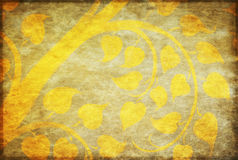 Golden tree pattern on paper Royalty Free Stock Image
