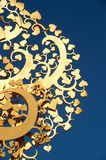 Golden tree wood Thai art . Royalty Free Stock Images