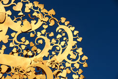 Golden tree wood Thai art . Stock Image