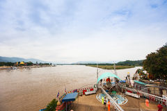 Golden Triangle - the border of Thailand, Burma and Laos. Golden Triangle - border of Thailand, Burma and Laos royalty free stock images