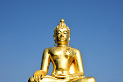 Golden Triangle Buddha. The golden buddha at Golden Triangle Park , Sob Ruak , Chiang Rai Province , Thailand stock photos