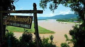 The Golden Triangle, Chiang Rai province, Thailand stock photos