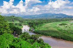 Golden Triangle at Mekong River, Chiang Rai Province. Thailand royalty free stock photos