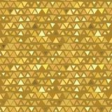 Golden Triangle seamless pattern, yellow beige. Background. Vector illustration Royalty Free Stock Photography