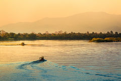 Golden Triangle. View of The Golden Triangle at Southeast Asia Royalty Free Stock Photography