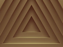 Golden triangles. Abstract background for. Graphic design, book cover template, website design, application design. 3D illustration Royalty Free Stock Photo