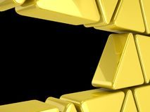 Golden triangles background Royalty Free Stock Image
