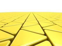 Golden triangles background Royalty Free Stock Photo