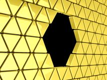 Golden triangles background Stock Images