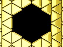 Golden triangles background Royalty Free Stock Photography