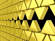 Golden triangles background Royalty Free Stock Images