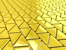 Golden triangles background Stock Image