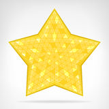 Golden triangular star web element isolated Royalty Free Stock Image