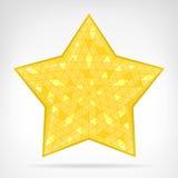Golden triangular star web element isolated. Vector illustration stock illustration