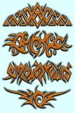 Golden tribal royalty free stock image