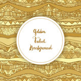 Golden Tribal Background Card Template Stock Photos