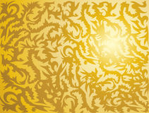 Golden tribal texture. Shiny golden plate with tribal design texture Royalty Free Stock Photography