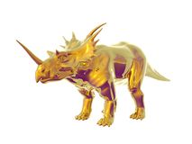 Golden Triceratops Royalty Free Stock Image