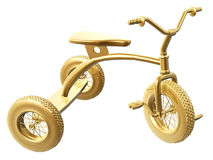 Golden tricycle Royalty Free Stock Image