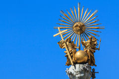 Golden trinity top of a pest column Stock Photo