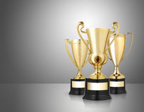 Golden trophies Royalty Free Stock Images
