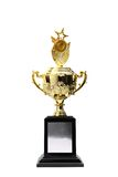 Golden trophies awards. Cup isolated Royalty Free Stock Photography