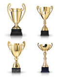 Golden trophies Royalty Free Stock Image
