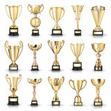 Golden trophies Stock Photography