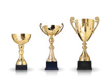 Golden trophies Royalty Free Stock Photo
