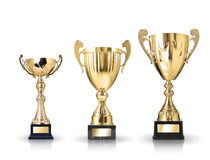 Golden trophies Royalty Free Stock Photos