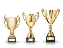 Golden trophies Stock Image