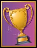 Golden Trophy Royalty Free Stock Photos