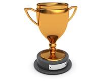 Golden trophy Stock Photo