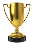 Golden trophy. 3d illustration on white background Royalty Free Stock Photography