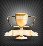Golden Trophy Royalty Free Stock Image