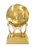 Golden trophy Stock Photography