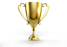 Golden trophy Stock Image