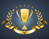 Golden trophy Royalty Free Stock Photo