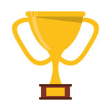 Golden trophy award sport win sport Royalty Free Stock Photo
