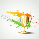 Golden trophy background Royalty Free Stock Images