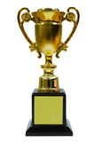 Golden Trophy With Base. Beautiful Golden Trophy With Base stock photo