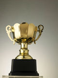Golden trophy. Close up champion golden trophy stock photography
