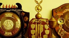 Golden Trophy, Close up. Gold Trophy shot stock video