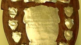 Golden Trophy, Close up, Tilt down