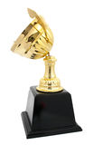 golden trophy crash isolated Stock Photography
