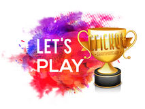 Golden Trophy for Cricket Championship concept. Stock Photos