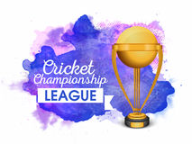 Golden Trophy for Cricket Championship League. Royalty Free Stock Photography
