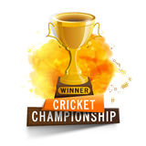 Golden Trophy for Cricket Sports concept. Royalty Free Stock Photography